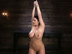 Restraint Bondage Curvy Mummy Angela Milky Is Fucked And Penalized In The Basement