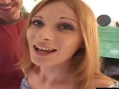 Saucy Ginger Slag Gen Gets To Pleasure Two Thick Poles