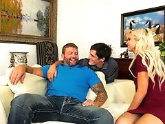 Wondrous Cougar Astrid Starlet Takes Part In Such A Horny Bisexual Threesome