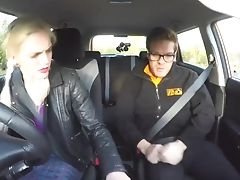 Faux Driving School Examination Failure Leads To Hot Sexy Blonde Car Fuck