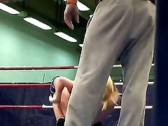 Nude Blonde Honeys Nikky Thorne And Nataly Von Love Gobbling And Fucking Each Other After Grappling