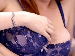 Crimson Haired Mummy Lauren Phillips Is Making Love With Bosomy Black-haired Gf