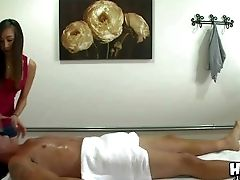 Sexy Asian Masseuse Arial Rose With Lovely Tits Strips Down