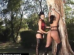 Penthouse Pet Jelena Jensen Ties Aria Giovanni To A Tree!