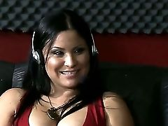 Jordan Ash Invited Buxom Honey Sophia Lomeli For An Interview In The Radio Studio