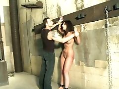 Subjugated Raven Haired Hoe Anita Is Ferociously Fucked On The Table
