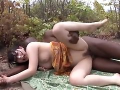 Japanese Lady Fucks Outdoor With An African Man