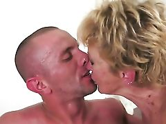 Blonde With Tastey Breasts Squeezes The Jism Out Of Fuck Stick With Her Poon