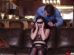 Blinded Sexy Honey With Big Booty Is Astonished With Rear End Pounding