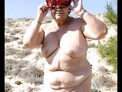 Dude Fuck Granny Bbw On The Beach