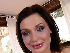 Wanna See Sinful Brown-haired Bitch With Cool Milk Cans Aletta Ocean Getting All Of Her Loving Fuck-holes Pounded Then Stare At This Scene Where She G