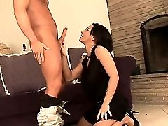 Sexy Horny Sandra Romain Deep Throats A Hard Dick Then Gets Her Puss Munched