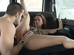 Whore From Barcelona Mar Duran Hooks Up With One Perverse Dude In The Back Seat