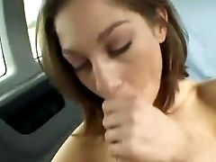 Petite Dark Haired Chick Had Steamy Hook-up With Her Pal On The Back Seat Of His Car