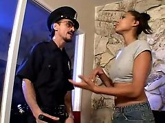 Pretty Chick With Ponytails Makes Police Officer Eat Her Delicious Fuckbox