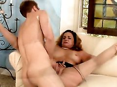 Dark Haired Rebecca Bardoux Wraps Her Lips Around Danny Wyldes Pulsing Dick