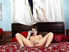 Brynn Jay Becomes Soaking Moist During Talking On The Phone With Her Beau And Starts To Masturbate