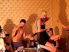 Horny Chicks Abbey, Carolina, Emmy, Janet, June And Logan Organized A Antique-style Soiree