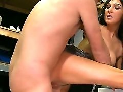 Adorable And Gorgeous Black-haired Curve Diana Prince Inhales An Erected Dick. Dane Cross Penetrates Her Pretty Mouth And Then Her Starts The Drilling