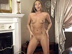 All Alone Svelte And Long Legged Sweetheart Natalia Forrest Flashes Her Diminutive Titties