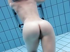 Sexy Stunner Aneta Swims And Strips Naked