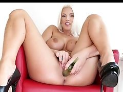 Alone Prettily Packed Sexpot Blanche Bradburry Is Impatient To Masturbate Herself