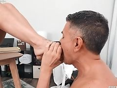 Facial Cumshot Concludes Woman's Sexual Venture Down At The Office