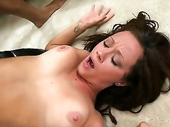 Dark Haired Likes Fresh Hot Sperm Sperm All Over Her Face