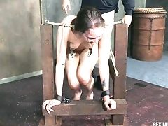 Two Decadent Dudes Get To Plumb A Ravishing Honey In The Bdsm Room