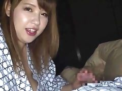 Huge-titted Japanese Yuuki Is The Real Master Of A Suck Off And A Tit Job