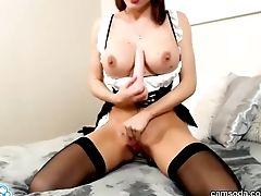 Camsoda - Katie Banks Sexy Maid Attire Getting Off