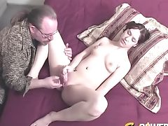 Non-traditional Honey Chrissy Sparks With Ponytails Fucked By An Older Man