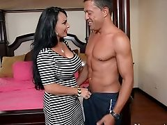Holly Halston Is His Friend's Horny Mom In Crimson Boots
