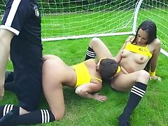 Sporty Teenagers Luving Same Dick On The Football Field