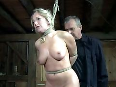 This Horny Restrain Bondage Master Puts A Wooden Stick To Good Use