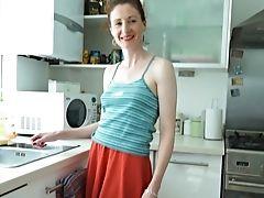 Horny Red-haired Mummy Masturbates Compilation