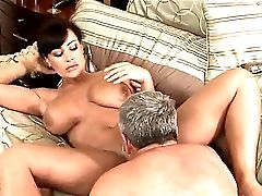 Lisa Ann Horny On The Sofa Finds Herself Seducing Jay Squad To Eat Her Already So Humid Cunt, Loving Every Moment Of This She Caresses Her Jugs As She