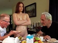 Threesome Fuck-a-thon With Two Old Guys