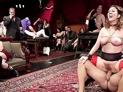Subjugated Tied Up Curvy Whore Nora Riley Has To Deepthroat Some Dicks