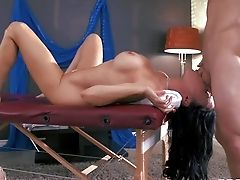 Dark Haired Ultra-cutie Conventional Deville Gets A Truly Sensuous Rubdown
